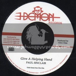 """Demon Records-7""""-Give A Helping Hand / Paul Sinclair"""