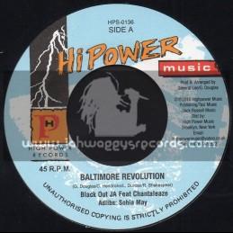 "Hi Power Music-7""-Baltimore Revolution / Black Out JA Feat. Chantaleaze"
