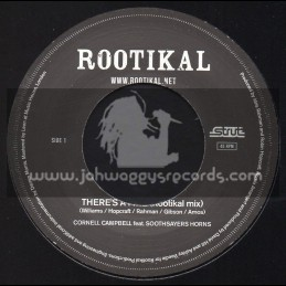 """Rootikal-7""""-Theres A Fire / Cornell Campbell Feat. Soothsayers Horns"""