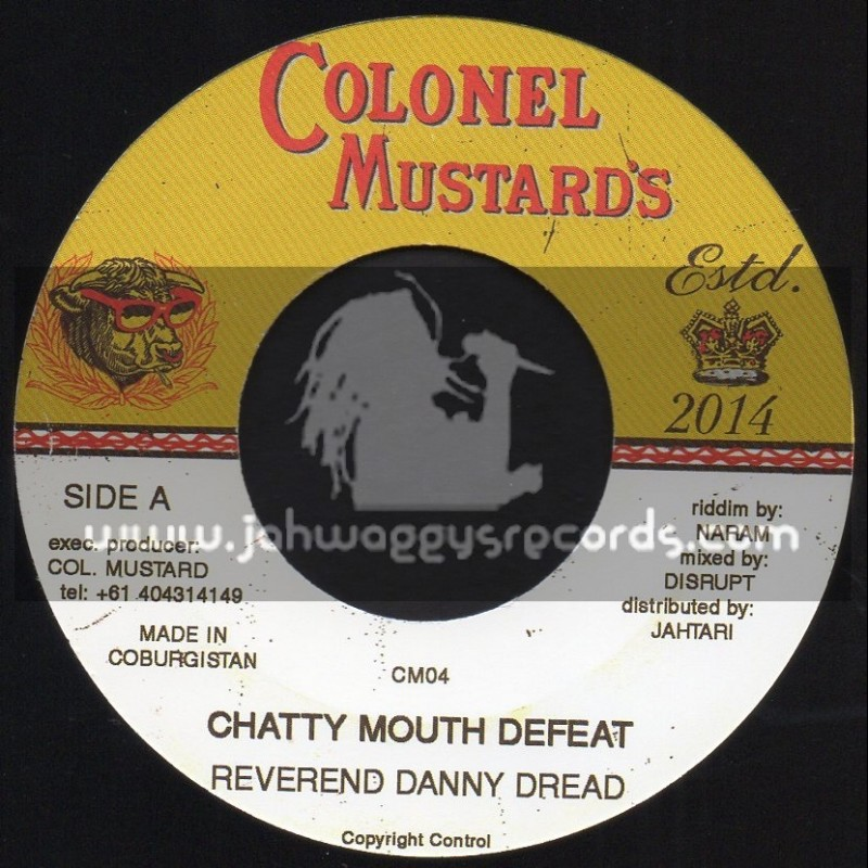 """Colonel Mustards-7""""-Chatty Mouth Defeat / Reverend Danny Dread"""