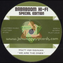 "Jah Free Music-7""-We Are The Ones / Matt Abyssinian"