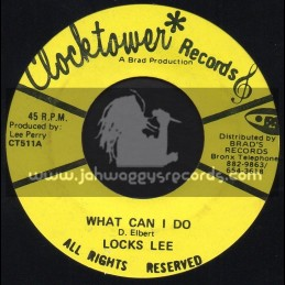 """Clock Tower Records-7""""-What Can I Do / Locks Lee"""
