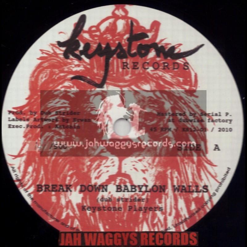 "KEYSTONE RECORDS-12""-BREAK DOWN BABYLON WALLS / KEYSTONE PLAYERS(DUB STRIDER)"