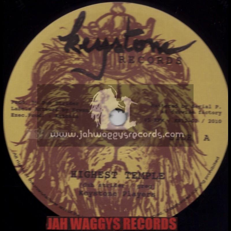 "KEYSTONE RECORDS-12""-HIGHEST TEMPLE / KEYSTONE PLAYERS + FLUTE WARRIOR / KEYSTONE PLAYERS (DUBSTRIDER)"