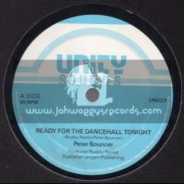 """Unity Sounds-12""""-Ready For The Dancehall Tonight / Peter Bouncer + Dont Test / Peter Bouncer"""