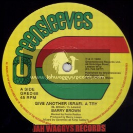"GREENSLEEVES-12""-GIVE ANOTHER ISRAEL A TRY + SWEET SIXTEEN / BARRY BROWN"