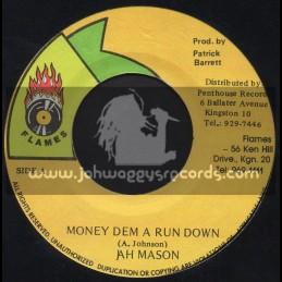 """Flames-7""""-Money Dem A Run Down / Jah Mason"""