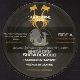 "Soulshine Musik-12""-Show Dem / Zion Irie + Burning Like Fire / Amelia Harmony"