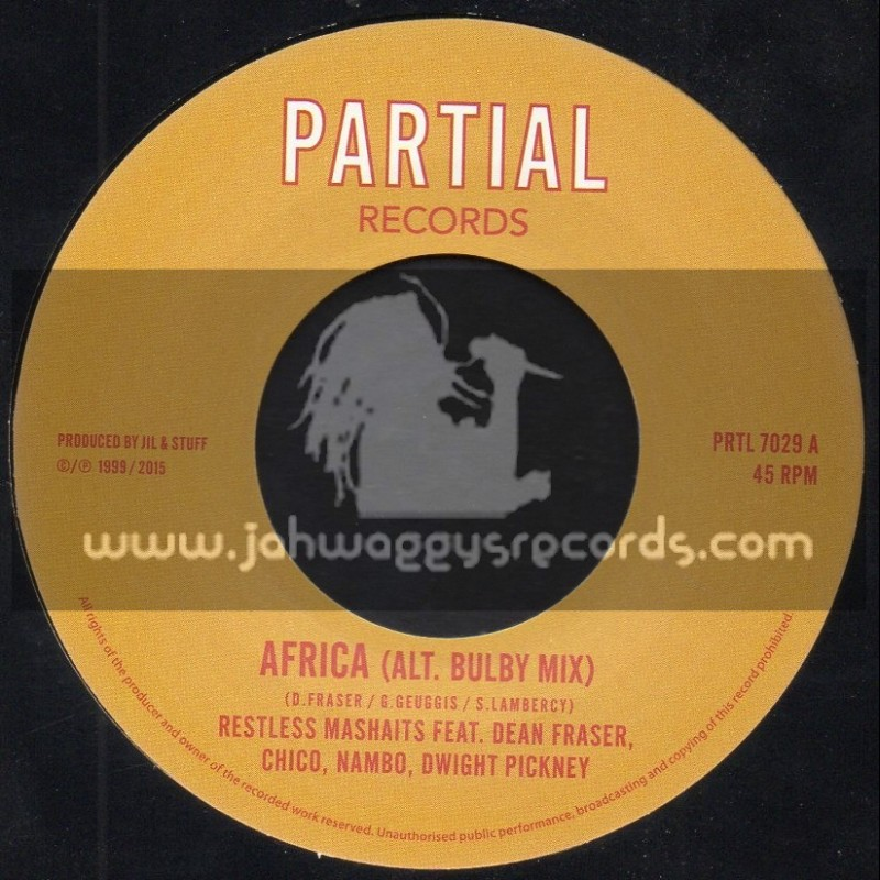 "Partial Records-7""-Africa (Alt. Bulby Mix) / Restless Mashaits"
