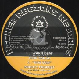 "Higher Regions Records-12""-Test Press-Warn Dem / Fikir Amlak + Jump For Joy / Isiah Mentor"
