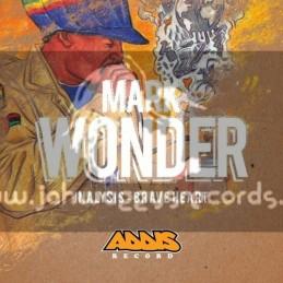 """Addis Records-10""""-Inalysis / Mark Wonder Feat. Alex Schneiter, Ras Ico & Jonah Dan + Brave Heart / Mark Wonder"""