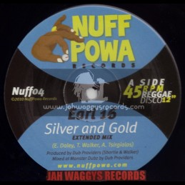 "NUFF POWA RECORDS-12""-SILVER AND GOLD / EARL SIXTEEN"