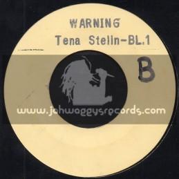 "White Label-Hand Stamped-7""-Warning / Tena Stelin"