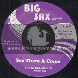 """Big Sax Records-7""""-See Them A Come / Lloyd Delanders"""