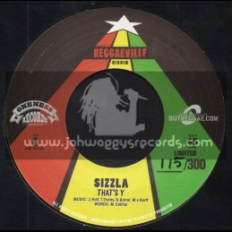 "Oneness Records-7""-Thats Y / Sizzla + My Day / Iba Mahr"