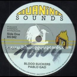 "Burning Sounds-7""-Blood Suckers / Pablo Gad"