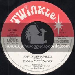 """Twinkle-7""""-War In Jerusalem / Twinkle Brothers"""