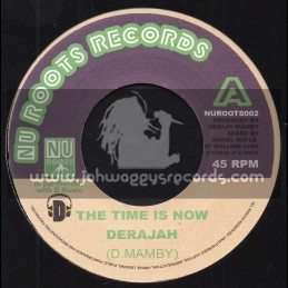 """Nu Roots Records-7""""-The Time Is Now / Derajah - Rolling Lion Studio"""