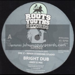 """Roots Youths Records-12""""-Shine/Dre Z - Inner Standing Studio+Time And Space/Brizion Meets Joshua Hales,Binghi Ghost & Luv Fyah"""