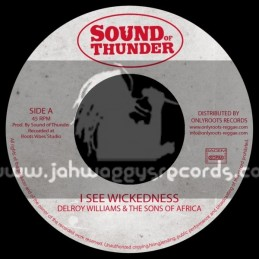 """Sound Of Thunder-7""""-I See Wickedness / Delroy Williams And The Sons Of Africa"""