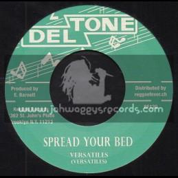 "Deltone-7""-Spread Your Bed / Versatiles + Hound Dog Special / Val Bennett"