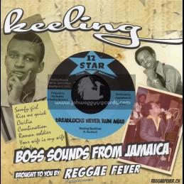 "12 Star Records-7""-Dreadlocks Never Run Away / Keeling Beckford"