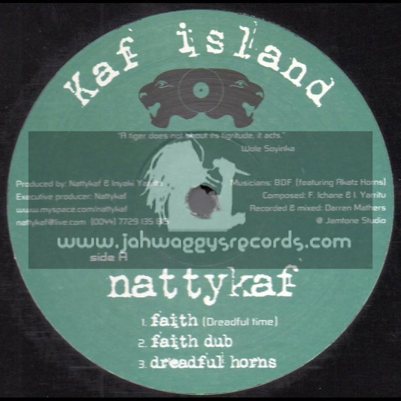 """Kaf Island-12""""-Faith / Nattykaf + Rasta Calling / Nereus Joseph + Famine / Nattykaf"""