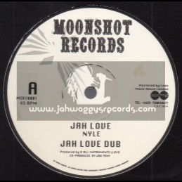 """Moonshot Records-10""""-Jah Love / Nyle + Greetings / Nyle"""