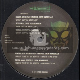 """4Weed Records-12""""-Step Outer Babylon / Delta Dub Feat Mrdill Lion Warriah"""