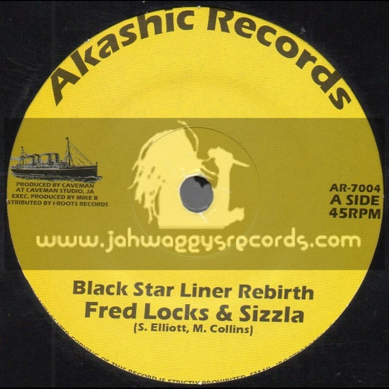 "Akashic Records-7""-Black Star Liner Rebirth / Fred Locks And Sizzla"