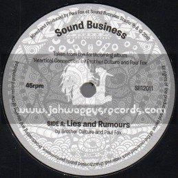"""Sound Business-7""""-Lies And Rumours / Brother Culture And Paul Fox"""