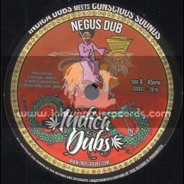 """Indica Dubs-7""""-Negus Dub / Indica Dubs Meets Conscious Sounds"""