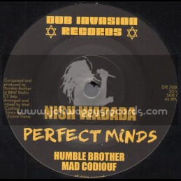 "Dub Invasion Records-7""-Perfect Minds / Nish Wadada - Humble Brother And Mad Codiouf"