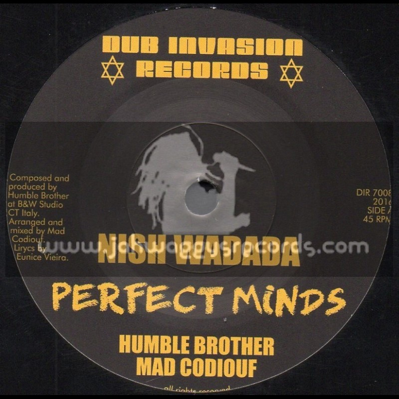 """Dub Invasion Records-7""""-Perfect Minds / Nish Wadada - Humble Brother And Mad Codiouf"""