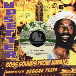 "Upsetters Records-7""-Set Them Free/Lee Perry And The Sensations + Dont Blame The Children/Lee Perry And The Sensations"