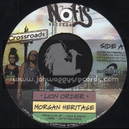 """Notis Records-7""""-Lion Order / Morgan Heritage + Jah Is Here For Me / Dre Island"""