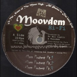 "Moovdem Hi-Fi-12""-Mass Protest / Moovdem At Weeding Dub Studio + The Files / Moovdem At Steppaddict Studio"