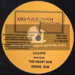 """Warriyah Productions-12""""-Llllove / Iwarriyah + Long Way To Travel / Iwarriyah"""