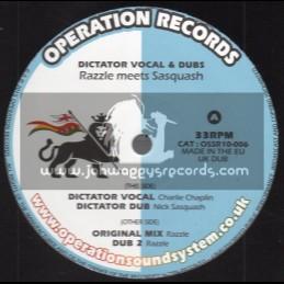 "Operation Records-10""-Dictator / Charlie Chaplin - Razzle Meets Sasquash"
