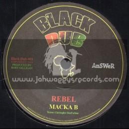 "Black Dub-7""-Rebel / Macka B + Inna Di Gideon / Racquel Jones"