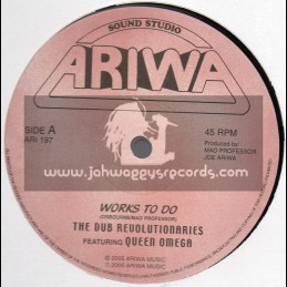 """Ariwa-12""""-Works To Do / The Dub Revolutionaries Feat. Queen Omega + Sound Boy Jam / Crazy Caribs"""