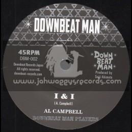 """Downbeat Man-7""""-I And I / Al Campbell"""