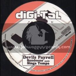 """Digi-Tal-7""""-Devils Payroll / Sandeeno Meets Singa Tempa - Conscious Sounds"""