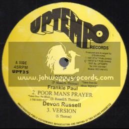 "Up Tempo-12""-Rejoice / Frankie Paul + Poor Mans Prayer / Devon Russell"