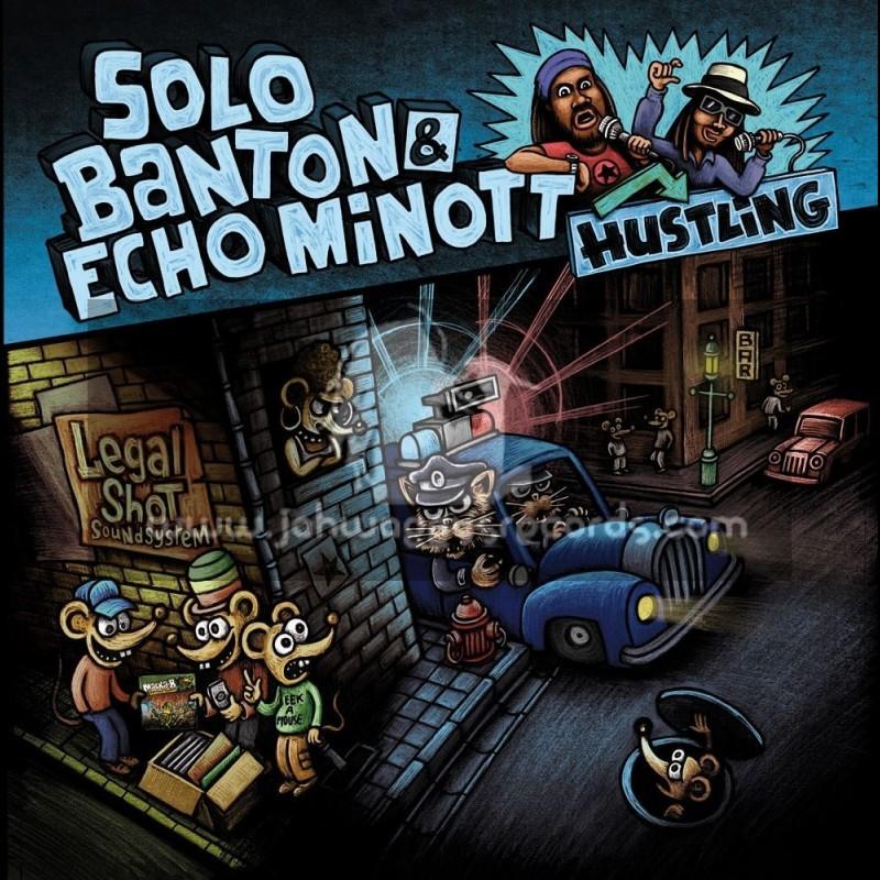 """Legal Shot Records-12""""-Hustling / Solo Banton And Echo Minott + No Problem / Danton Heslop"""