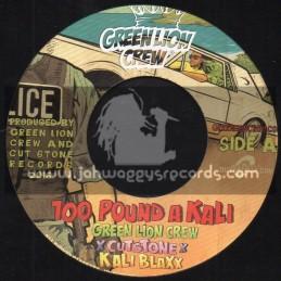 """Green Lion Crew-7""""-100 Pound A Kali / Cutsone - Kali Blaxx"""