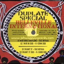 "Belleville International-Dubplate Style-10""-War Inna Babylon / Ras Mykha + Skank It / Ras Mykha"