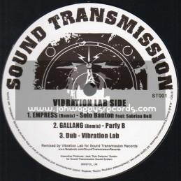 "Sound Transmission Records-12""-Empress / Solo Banton Feat. Sabrina Bell + Gallang / Parly B - Vibration Lab & Interupt Remixes"