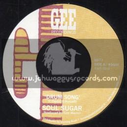 """Gee Recordings-7""""-Drum Song / Soul Sugar"""