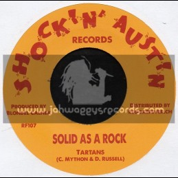 """Shockin Austin Records-7""""-Solid As A Rock / Tartans + Your Love / Peter Austin"""